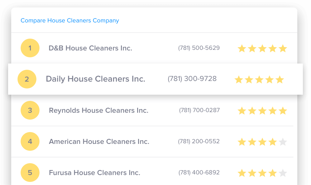 Compare House Cleaning companies